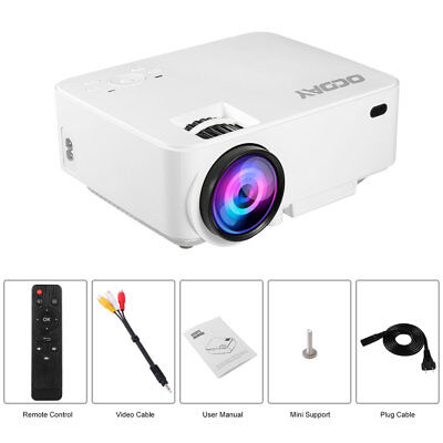 7000 Lumens LED Android 4K 1080P Home Theater Cinema LCD Projector HDMI VGA USB