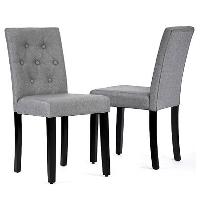 Kitchen Room Dining Chairs Armless Chair Accent Solid Wood Modern Style Set Of 2
