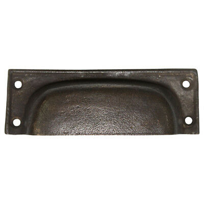 Black Brown 100 mm Cup Pull Handle Cast Iron Cabinet Drawer VNBL2256