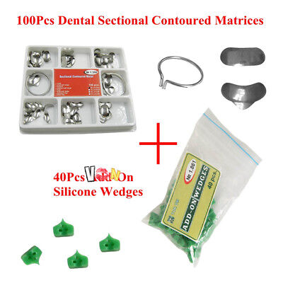 Dental 100pcs Sectional Contoured Matrices Matrix Ring Delta 40 Add-on Wedges