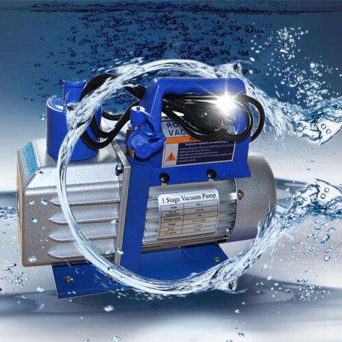 ONE Stage 1/3HP 4CFM Rotary Vane Deep Vacuum Pump HVAC AC Air Tool R134 R410a US