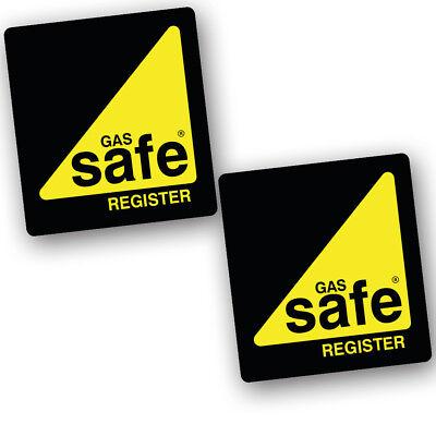 2 X Gas Safe Register Sticker Signs Vinyl Vehicle Van Logo Medium STKPN00020