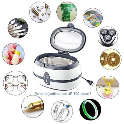 Ultrasonic Cleaner Professional Cleaning Jewellery Watch Coin Sunglasses Dvd
