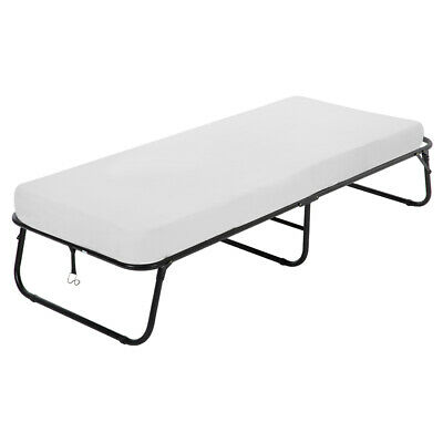 Guest Folding Bed Frame Camping Bed Cot Size Heavy Duty With Foam Mattress Beds & Bed Frames