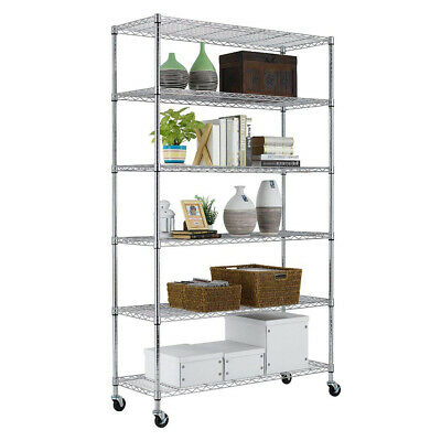 82″x48″x18″ 6 Tier Wire Shelving Unit Heavy Duty Height Adjustable NSF Home & Garden