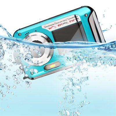 Double Screen 24MP Waterproof Digital Video Camera 1080P DV Underwater 2.7
