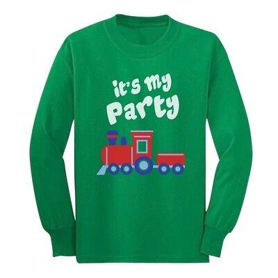 It's My Party Choo Choo Train Birthday Gift Idea Cute Long sleeve kids T-Shirt - Train Birthday Party Ideas