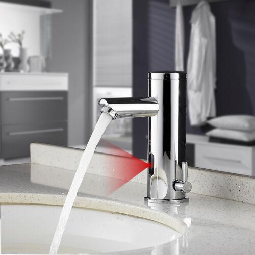 Automatische Induktion Wasserhahn Infrarot Sensor für Küche Waschbecken Silber