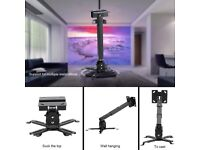 Projector Ceiling Mount LESHP Vaulted Bracket with Adjustable Extension Pole