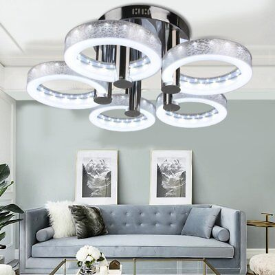 European Up to date Round Acrylic Chandelier Ceiling Pendant Light+5*18W LED Lamp BP