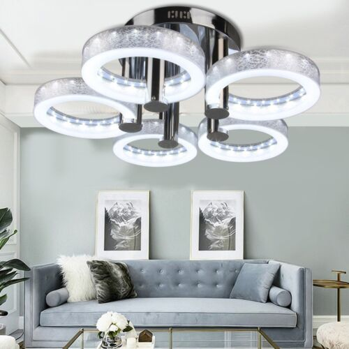 Modern LED Acrylic Chandeliers Flush Mount Ceiling Light Liv
