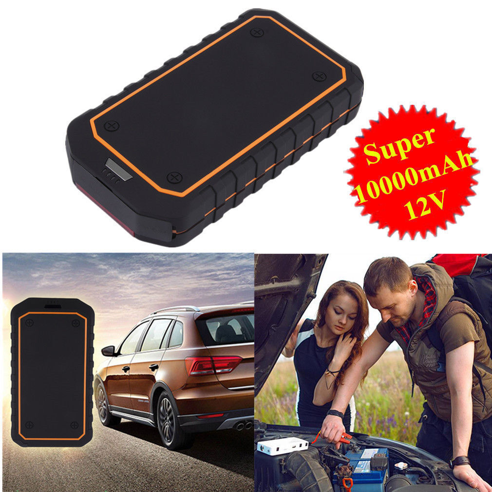 High Quality Multi Function Decorative Elegant Style Led: 10000mAh Portable Car Auto Jump Starter Battery Charger
