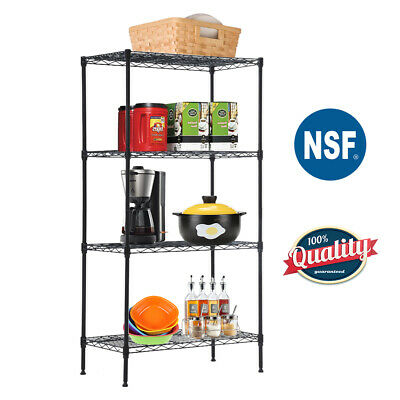 New 4-Tier Wire Shelving Unit Steel Large Metal Shelf Organizer Garage Storage