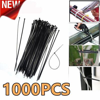 1000pcs 12 Nylon Plastic Zip Trim Wrap Cable Loop Ties Wire Self Lock 40lbs Usa