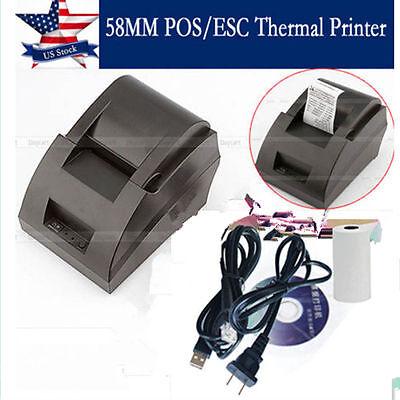 Usb Mini 58mm Posesc Thermal Dot Receipt Printer Set 384 Line Roll Paper 12v Ob