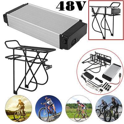 48V 14AH Cell Rear Carrier Ebike Li-ion Battery LED BMS Charger +Rear Rack