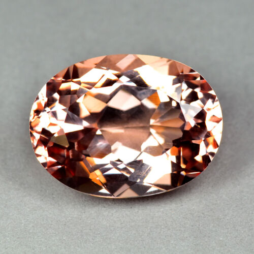 10.99CT OVAL CUT FLAWLESS CLEAN QUALITY UNHEATED PEACH PINK MORGANITE GEMSTONE