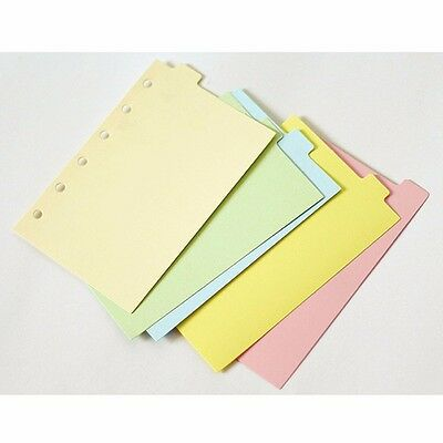 A5a6a7index Multi-coloured Tabs Divider Insert Refill Note Paper Organiser 5pc