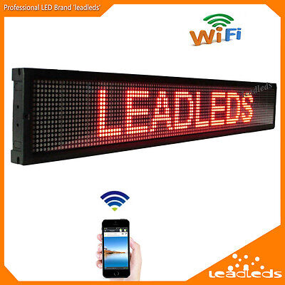 Leadleds Led Display Board Wifi App Programmable Scrolling Message Business Sign