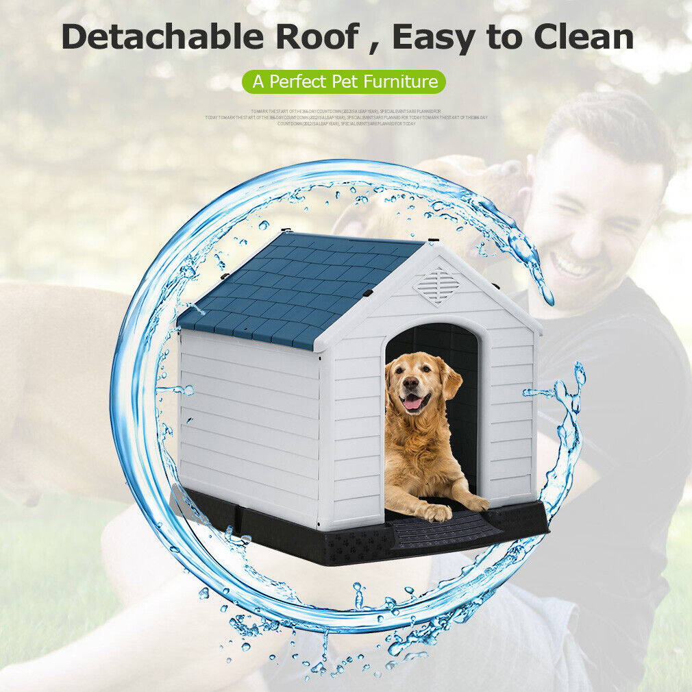 Big Dog House 32 Inch With Base Support For Winter Tough Durable House Dog Houses