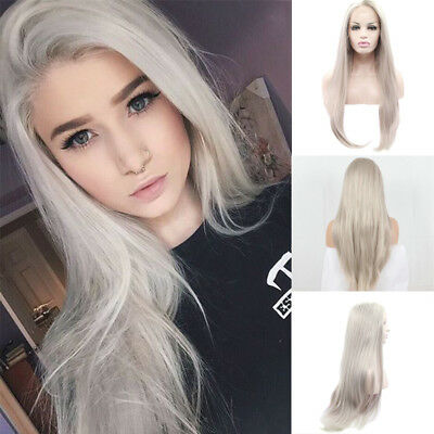 HOT Fashion Women's Hair Platinum Blonde  Wigs Synthetic Heat Resistant Wig+Cap (Platinum Blond Wig)
