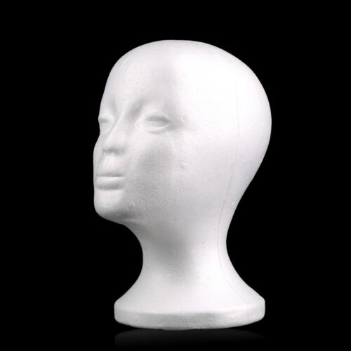 LN/_ Styrofoam Foam Mannequin Manikin Head Model Wigs Glasses Display Stand Can