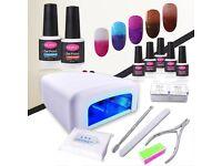 Gel Nail Polish Set 5pcs with accessories UV Nail Lamp, Nail Remover ,Nail Polish kit