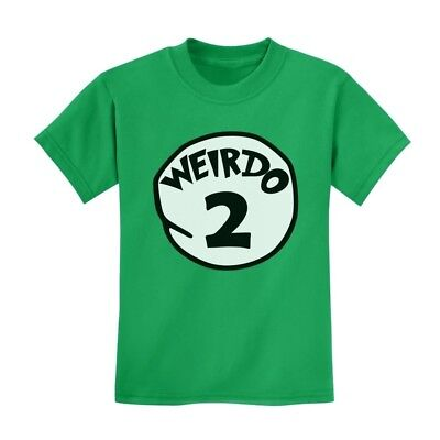 Weirdo 2 Kids T-Shirt Matching Couple 2 Thing Seuss Gift Idea Costume Youth Top - Couples Costume Ideas