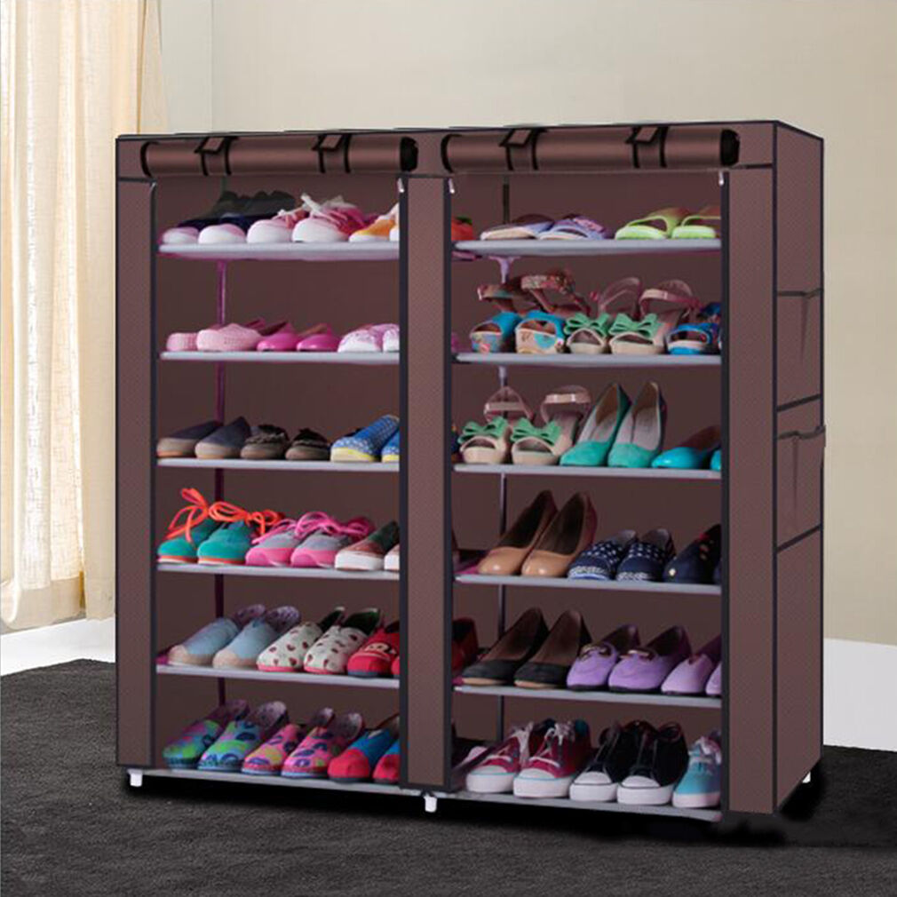 Gentil Rack Shoe Organizer Storage Shelf Closet Tier Cabinet Tower Shelves Home 50  Pair