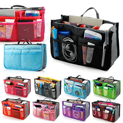 Lady Women Insert Handbag Organiser Purse Large liner Organizer Bag Tidy Tra WA