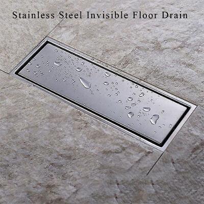 Invisible 304 Stainless Steel Bathroom Floor Drain Waste Grate Shower Drainer Shower Drain Grate