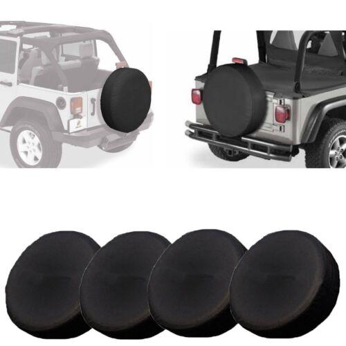 "Set of 4 RV Wheel Tire Covers Auto Truck Car Camper Trailer 28"" Diameter USA MA"