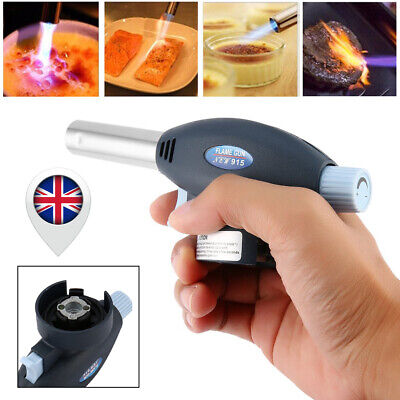 Blow Torch Butane Gas Flamethrower Burner Flame Gun  Camping Welding BBQ Tool UK