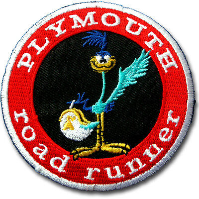 Cartoon Bird Patch Embroidered Iron on Badge Road Runner BSA Rat Rod Plymouth #2