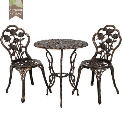 New Outdoor Bistro Set Patio Bistro Table Set 3 Piece Table and Chairs Garden - Outdoor Bistro Chairs