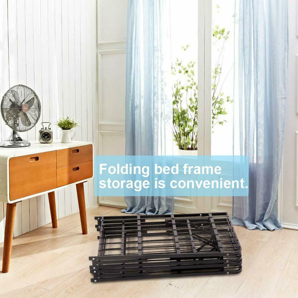 New Modern Bi-Fold Folding Platform Metal Bed Frame Mattress Foundation BF Beds & Bed Frames