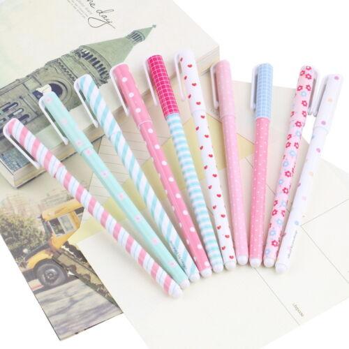 Korean Stationery Stationery Watercolor Pen Gel Pens Set 10pcs Color Kandelia KK
