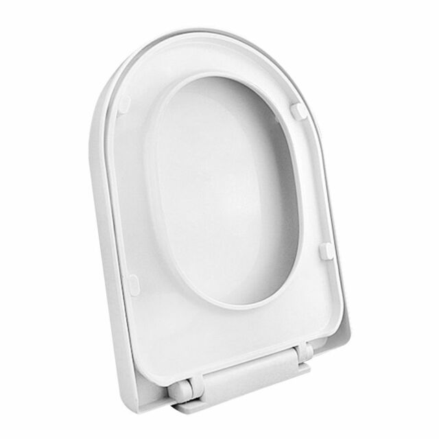 Great Square Shaped Toilet Lid Cover Seat Close For Home Hotel Lavatory Bathroom  White