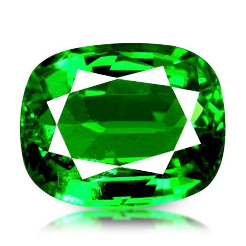 1.23CT CUSHION, UNTREATED VIVID GREEN COLOR NATURAL TSAVORITE GARNET, TANZANIA