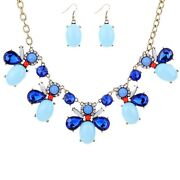 Dark Blue Crystal Necklace