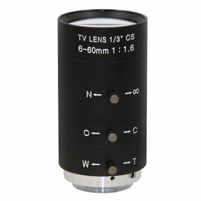 Manual IRIS ZOOM 6-60mm CS C Mount Lens for CCTV Camera Industrial Microscope MU Zoom Manual Iris