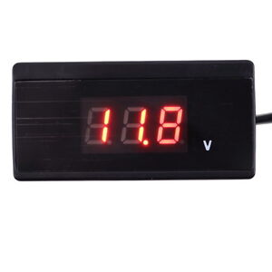 12V/24V Mini Auto Digital LED Voltmeter Car Voltage Gauge Battery Meter OK