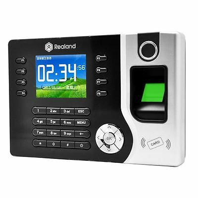 Realand 2.4 Biometric Fingerprint Time Attendance Machine Time Clock A-c071 Ub