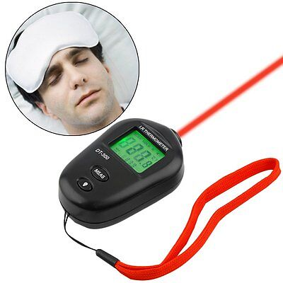 Mini Digital Non-contact Ir Infrared Lcd Thermometer Dt-300 Black Ud6 Rj