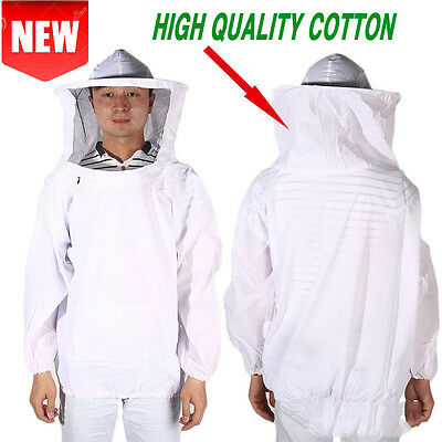 Beekeeping Suit Jacket Veil Hat Bee Keeping Pull Over Smock Protective Equipment