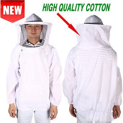 Beekeeping Suit Jacket Veil Hat Bee Keeping Pull Over Smock Protective Equipment