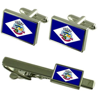 Cabo Frio City Rio de Janeiro Estado Bandera Gemelos Corbata Clip Box...