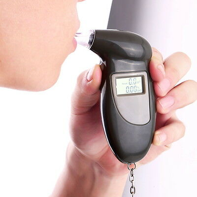 Digital Alcohol Breath Tester Breathalyzer Analyzer Detector Test Keychain SD
