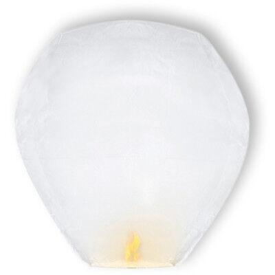 10 x Skylaterne Himmelslaterne XXL fliegende-Laterne weiß Luft-Ballon Skyballon
