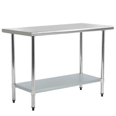 Stainless Steel Kitchen Prep Table Commercial Restaurant Table 24 X 48 Inch